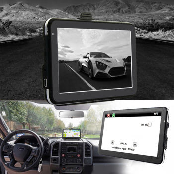7 Inch Touchscreen Device Multilingual Truck GPS Navigation Car Black Free Map MP3 Player Universal Multifunction FM HD Caravan