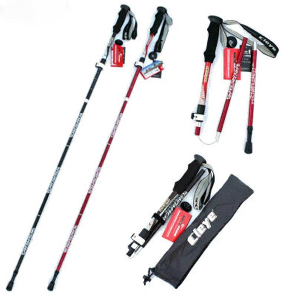 Telescopic Walking Poles Sticks Extending Adjustable Antishock Hiking pg