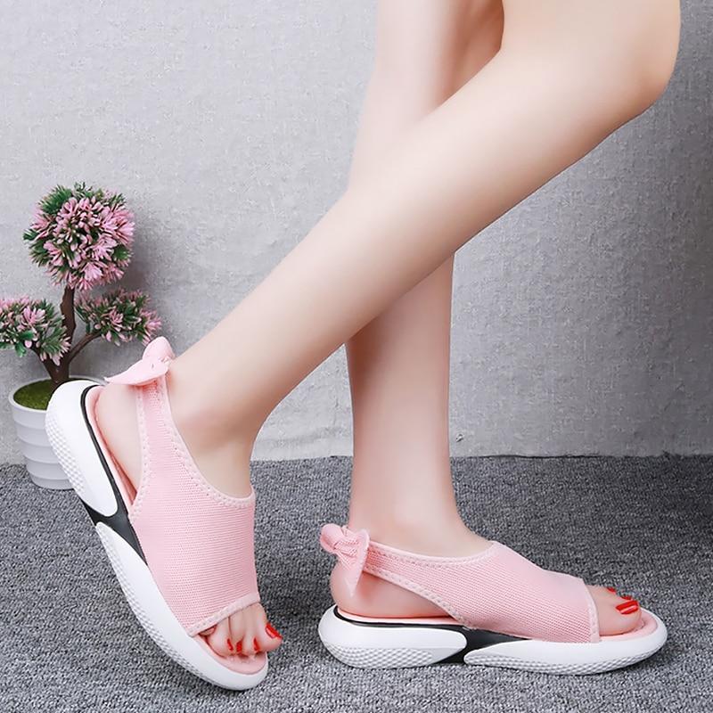 Women's shoes summer sandals Butterfly-knot Wedges shoes for women Platform sandals Open toe Brand beach shoes