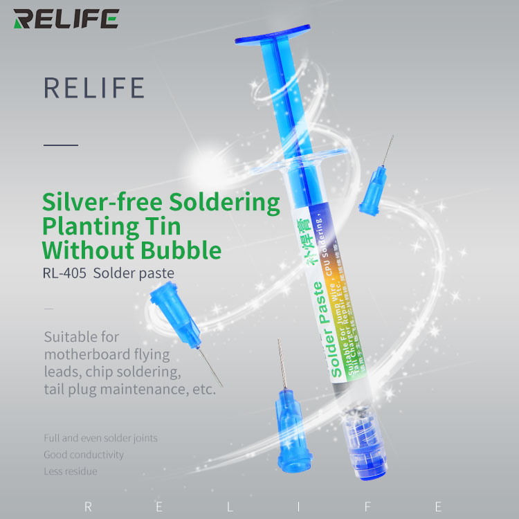 RELIFE RL- 405 138 Degrees Lead-free Needle Solder Paste Customized Needle For High-end Motherboard Repair
