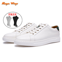 2019 new style fashion flat bottom sole white leather shoes for men casual sneaker