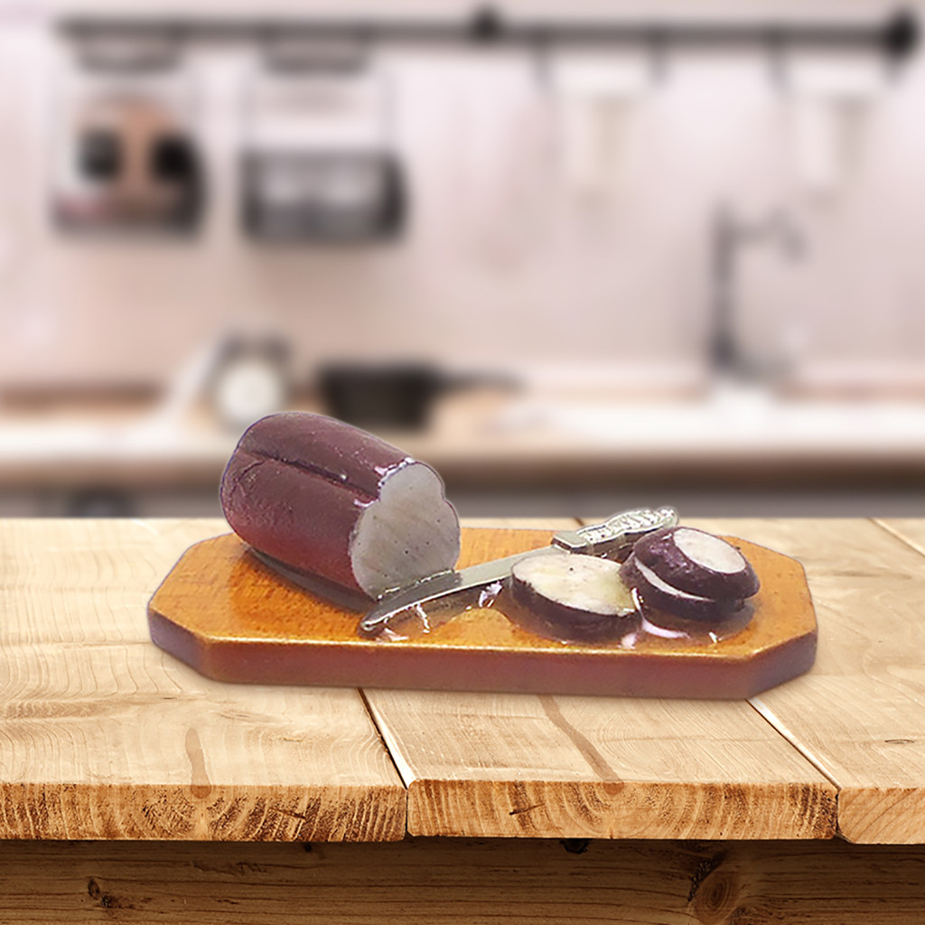 Doll-House Wooden Kitchen-Accessories Cooking 1:12-Scale 40x20x12mm Chopping-Board Enjoy