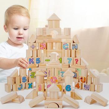 Children Educational Assembled Toys Alphanumeric Cognitive Puzzle Original Wooden Children Building Blocks Early Education Toys цена 2017