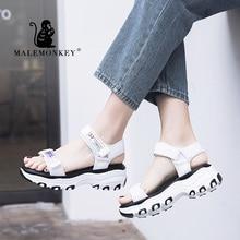 MALEMONKEY 023070 Ladies Summer Outdoor Beach Sandals 2020 Fashion Thick Soled W