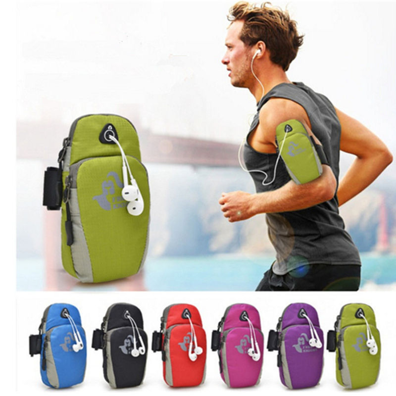 2019 Fashionable Fashion Sales Arm Bag Sports Bag Fitness Riding Apple Samsung Mobile Phone Support Bag Multi-functional Sports