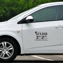 SENIOR 2020 Graduation Toilet Paper Car Stickers Styling Window Bumper Decal Vinyl 20*14cm