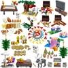 Игрушки City MOC для детей, рождественские подарки, наборы морепродуктов, игрушки для животных, собак, кошек, лось, подарки для друзей, совместим...