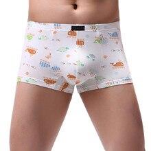 Мужские трусы боксеры, брюки на плоской подошве, эластичные штаны, трусики, сексуальные, с мультяшным принтом, мягкие, дышащие, мешковатые, под брюки# P3