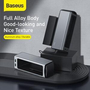 Image 4 - Baseus organizador do assento de carro metal caixa armazenamento automático bolso com portas usb duplas para o copo do carro telefone titular assento gap organizador gadgets
