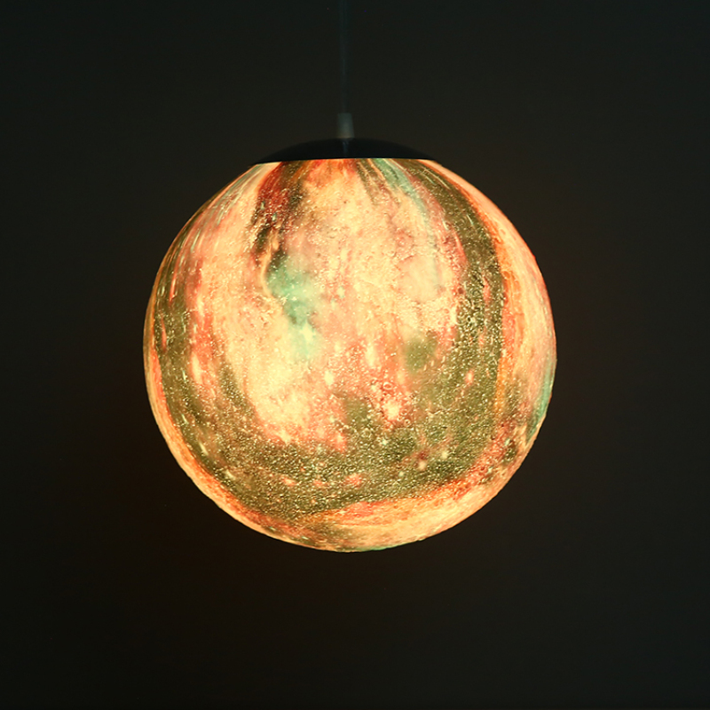 16 Colors 3D Printing Chandelier Ball Moon LED Star Modern LED Lamp Bedroom Dining Room led lustre Hanging chandelier lighting - 3