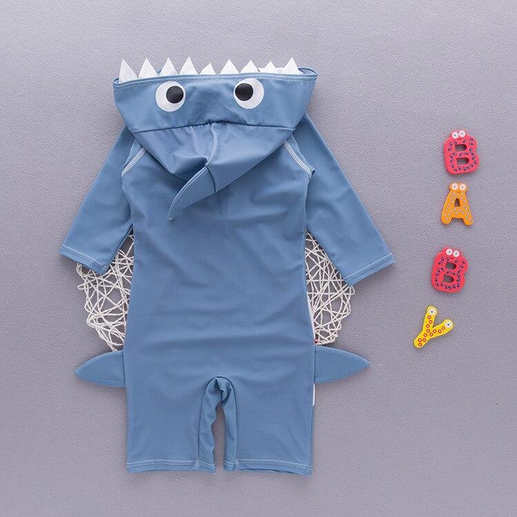 One-piece Swimsuit For Children Boy Sharks Bathing Suit Beach Sun-resistant Bubble Hot Spring Swimwear