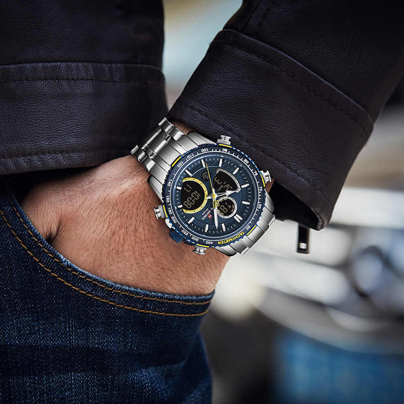 NAVIFORCE Mens Watches Top Brand Luxury Sport Watch Men Analog Quartz Watch Military LED Digital Male Clock Relogio Masculino