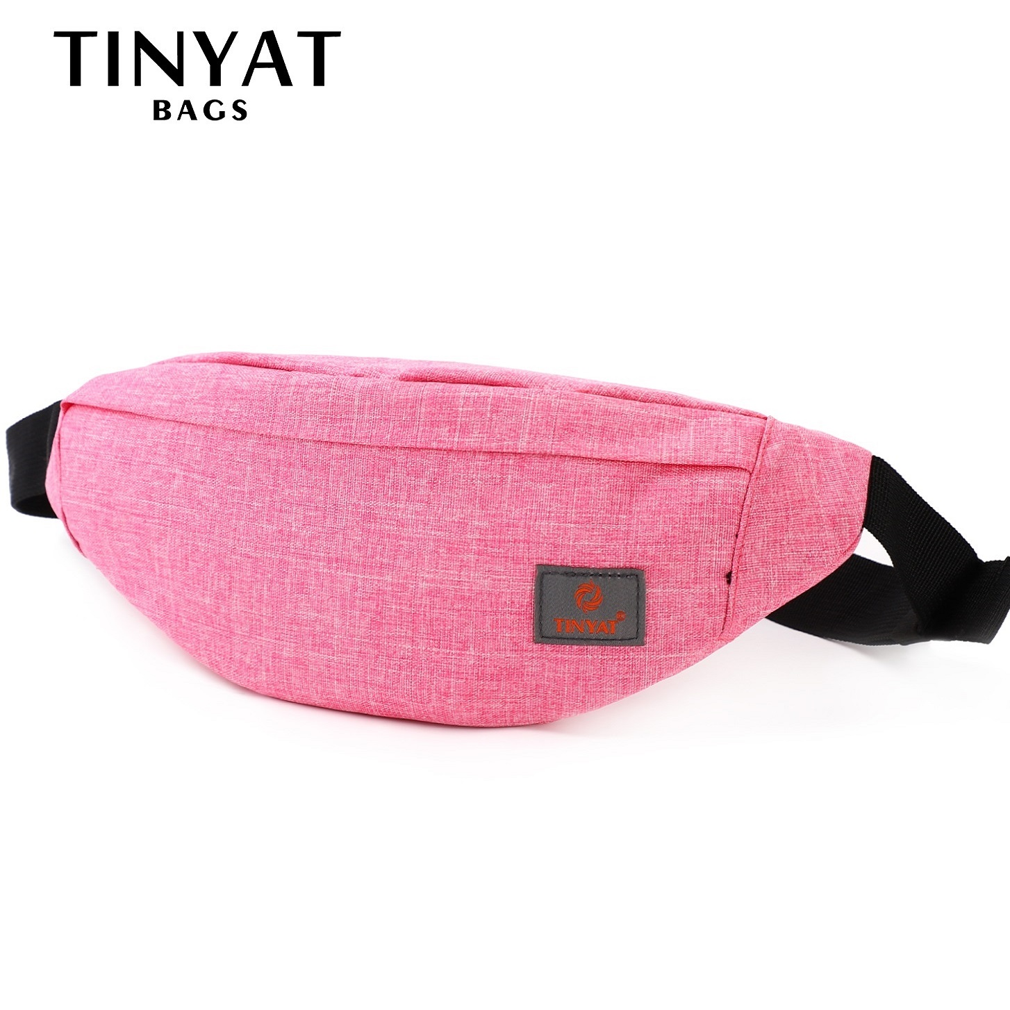 TINYAT Women Waist Bag Female Belt Bag Pack Girl Canvas Casual Fanny Pack Phone Mobile Money Fanny Bag Belt Bags Red