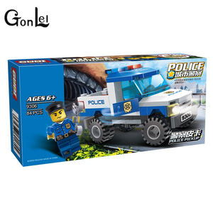 Image 2 - 9306 Lepining Police Truck Blocks Toys For Children Model Building Kits Small Particles Assembled Truck Blocks Christmas Toys