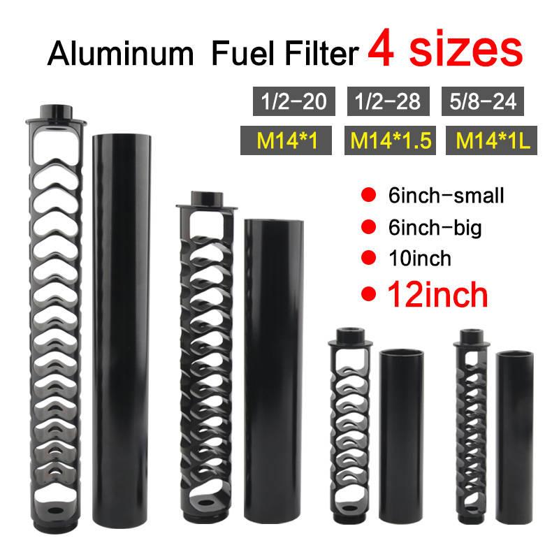 6inch-Small FUEL-FILTER-SOLVENT-TRAP Napa 4003 Aluminum 1/2-28 5/8-24 Single-Core 10inch