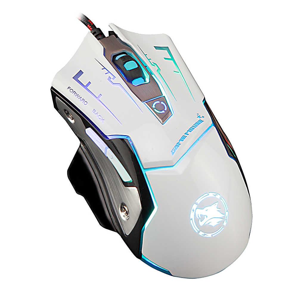 KAYINUO ماوس الألعاب DPI قابل للتعديل 6 أزرار rgb الخلفية السلكية/الكمبيوتر/ماوس الكمبيوتر مع كابل لأجهزة الكمبيوتر المحمول الفئران