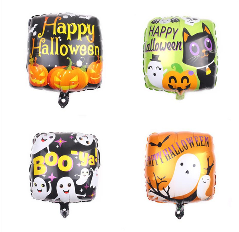Cartoon Hat 5pcs/lot Halloween Party Decoration Helium Air Foil Balloon 18 Inch Pumpkin Ghost Pirate Ship