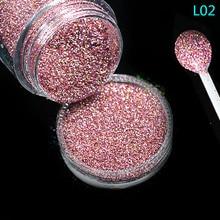 1 bouteille brillant poussière Nail Art paillettes décoration Pigment poudre Chrome Sequin rose Laser argent vernis manucure outil TRL01 16
