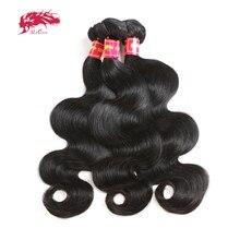 """Ali kraliçe saç vücut dalga brezilyalı Remy insan saç örgüleri demetleri doğal renk 10 """" 30"""" % 100% insan saçı dokuma 3/4 adet saç atkı"""