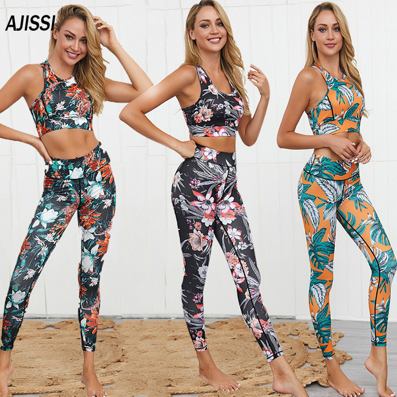 Women Casual Sports Crop Tops+Leggings Running Gym Yoga Fitness Tracksuit Set