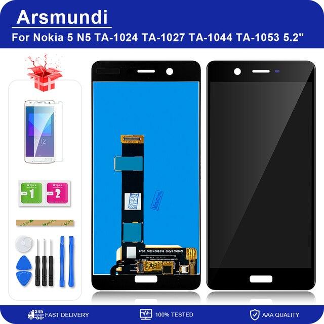 """شاشة رقمية لهاتف نوكيا 5 N5 TA 1024 TA 1027 TA 1044 TA 1053 5.2 """"LCD تعمل باللمس مع مجموعة محول رقمي لاستبدال شاشات الكريستال السائل Nokia5"""