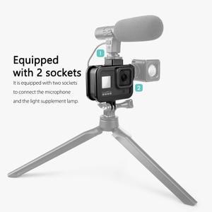 Image 5 - Vamson Vlog Aluminium alloy Housing Case for GoPro Hero 8 Black Vlogging Cage Frame Shell with Mic Cold Shoe Mount VP654