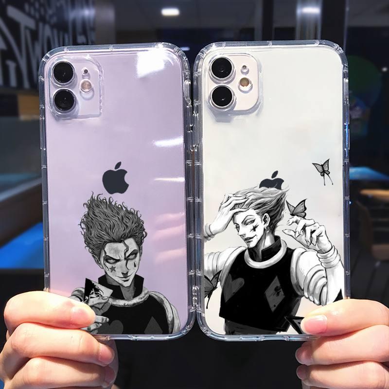 Чехол для телефона Hisoka Anime hunter x hunter, прозрачный мягкий чехол для iphone 5 5s 5c se 6 6s 7 8 11 12 plus mini x xs xr pro max