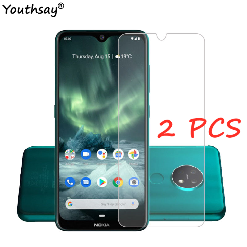 2PCS For Nokia 7.2 Glass For Nokia 7.2 6.2 Tempered Glass Screen Protector Film Glass For Nokia 7.2 Protective Glass Protector