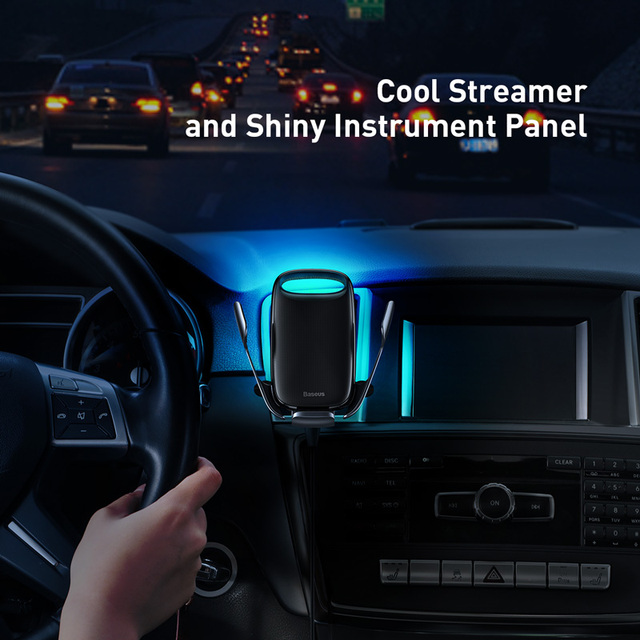 Baseus 15W Qi Wireless Car Charger For iPhone 11 Fast Car Wireless Charging Holder For Samsung S20 Xiaomi Mi 9 Induction Charger 2