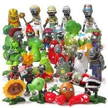 Бесплатная доставка, 40 шт./лот, Растения против Зомби, игрушка 3 7 см, PVZ Коллекция растений, Zombine, фигурка, игрушки в подарок