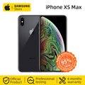 Desbloqueado original apple iphone xs max 6.5 polegadas smartphone a12 tela cheia (usado 95% novo)