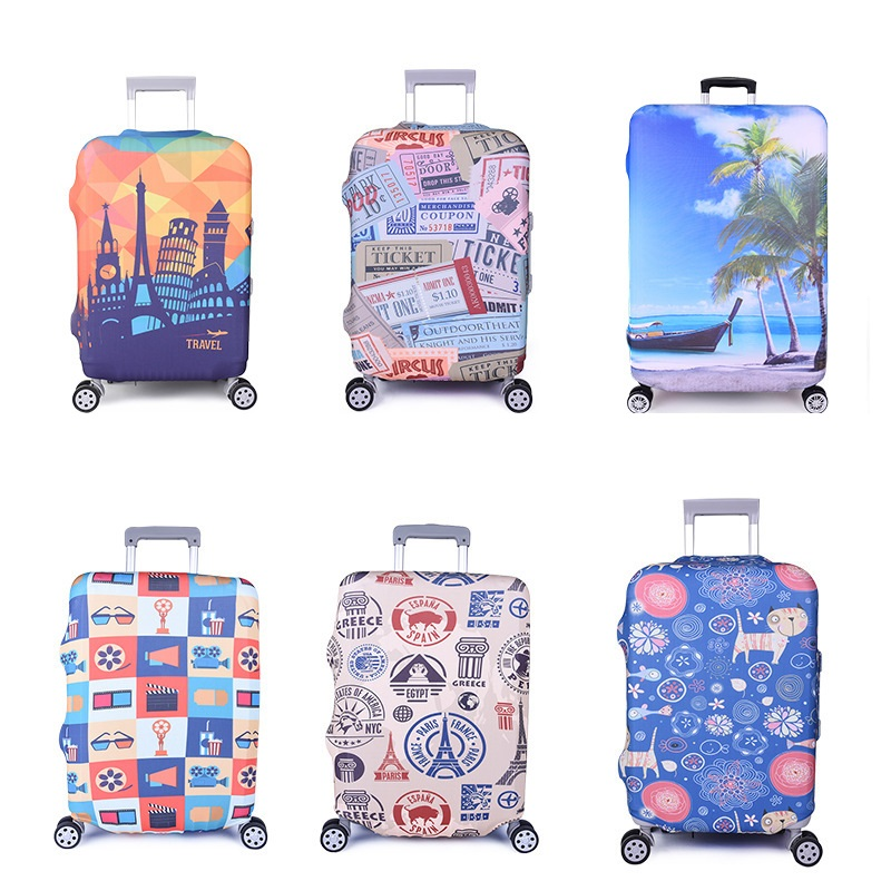Travel Luggage Cover Suitcase Spandex Protector Washable Baggage Covers