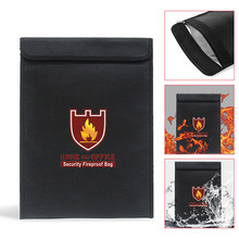 Fireproof Money Document Bag Water Resistant Cash Envelope Holder Protection Pouch Bags UND Sale