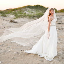 Bridal-Veils Simple Tulle Customized Long Woman Chapel Soft for High-End