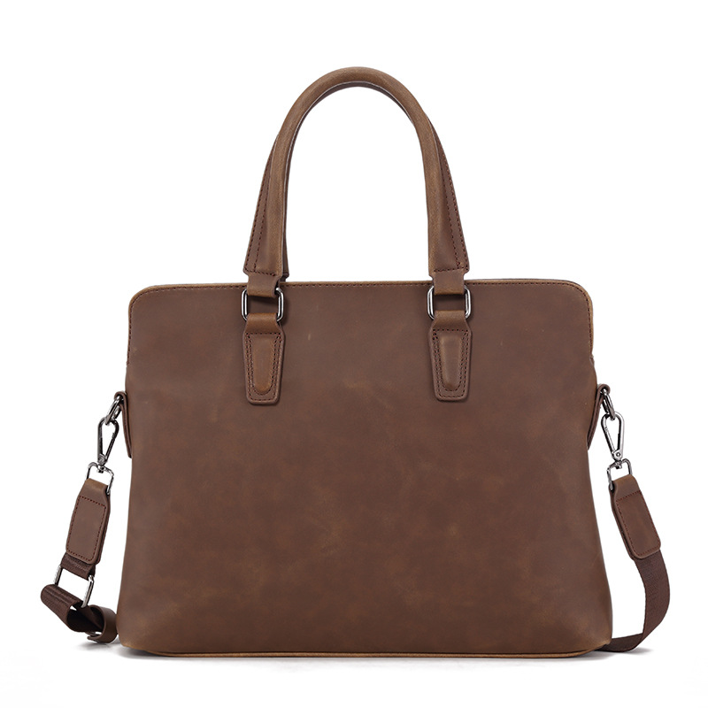 Korean Version Of Briefcase Leather Men's Handbag Multi-function Computer Bags Business Men Bag