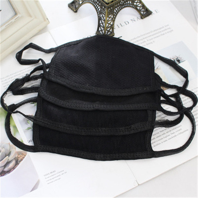 Hot Black Windproof Face Masks Anti-Dust Cycling Respirator Cotton mouth Face Mask Proof Flu Face Masks solid Mouth Mask Muffle 3