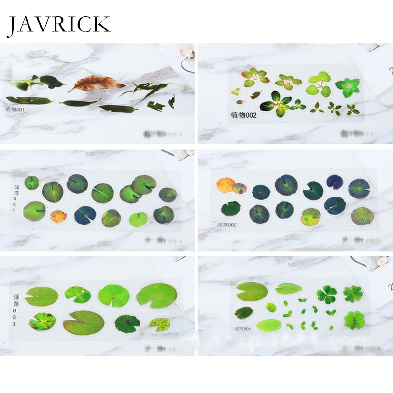 Simulation Fish Leaves Duckweed Stickers Resin Goldfish Painting Crafts Tools <font><b>DIY</b></font> Accessories Jewelry Making Tool image
