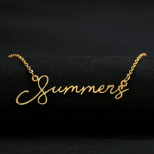 Handwriting Jewelry Custom Signature Pendant Collier Femme Vertical Personalized Name Necklace For Women Gift