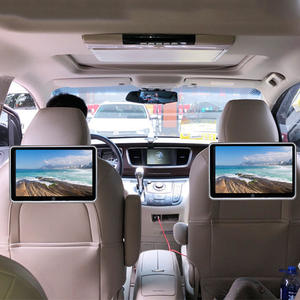 Monitor Auto Speaker Video-Player Multimedia Audio Lcd-Touch-Screen Car-Headrest Bluetooth