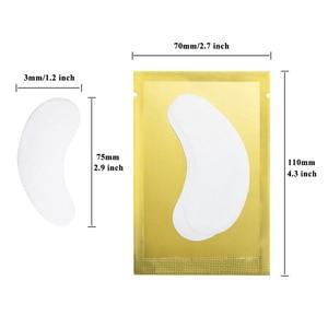 Image 2 - 100 זוגות\מארז חדש נייר תיקוני עפעף תחת רפידות העין לאש ריס הארכת נייר תיקוני עין טיפים מדבקת כורכת איפור כלי