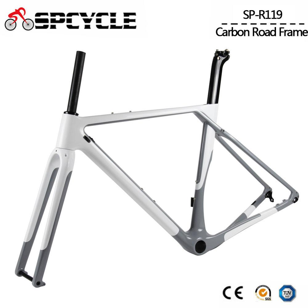 Image 2 - Spcycle Aero Full Carbon Gravel Bike Cyclocross Bicycle Frame Disc Brake Road Bicycle Frameset Front 100*12mm Rear 142*12mmBicycle Frame   -