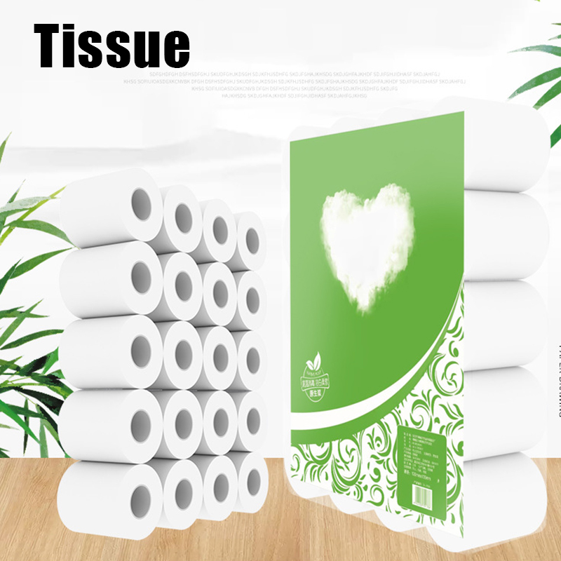 1/2/3/4/5/6 Rolls Toilet Paper Tissue 4 Layer Household Soft Skin-Friendly For Home Bathroom D88