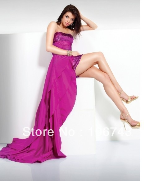 Free Shipping 2018 New Paillette Vestidos Formal Sexy Robe De Soiree Elegant Short Party Prom Gown Homecoming Bridesmaid Dresses