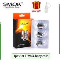 3 pcs/lot Original SMOK TFV8 X-BABY bobines Fit pour SMOK X-BABY réservoir Q2 M2 X4 T6 SMOK TFV8 X-BABY bobines tête