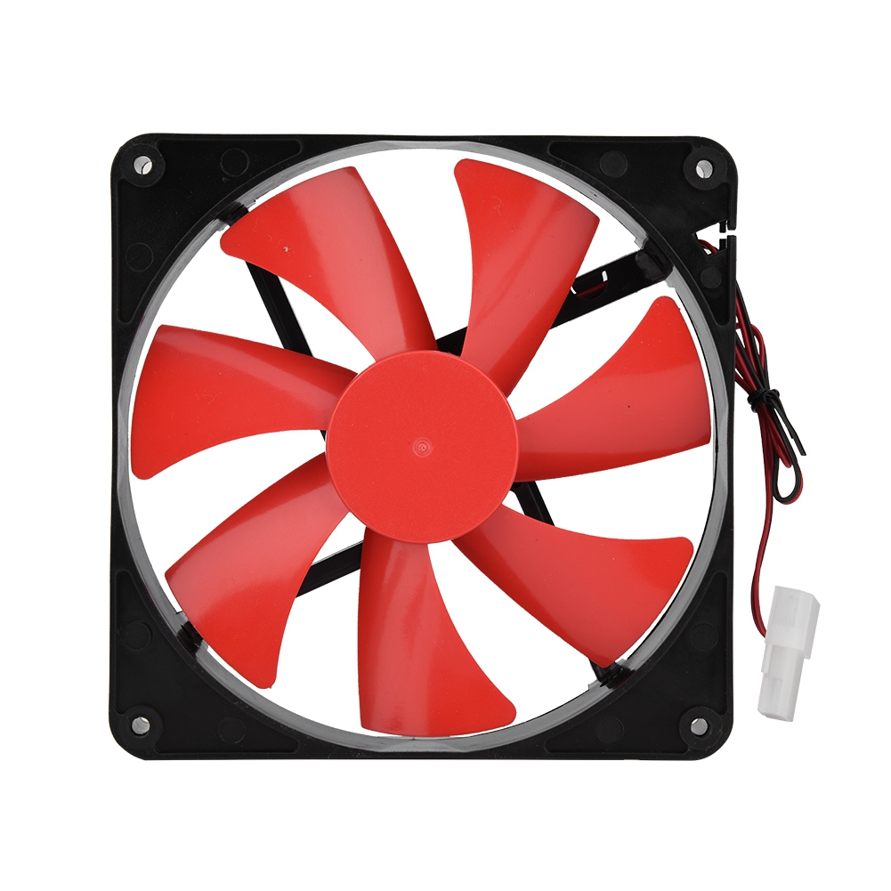 120mm 2300rpm Red LED Case Fan 3 Pin Molex Computer Cooling Desktop PC Cooler