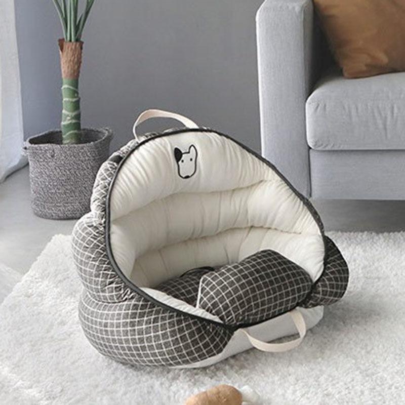 Super Comfortable Velvet Fleece Car Dog Bed Pet Bed Cat Nest Cat Dog Non-slip Cotton Material 1