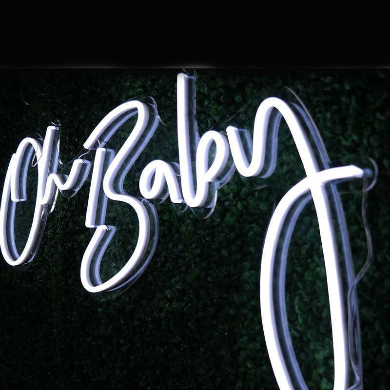 Oh Neon bebek LED Neon burcu Custom Made duvar ışıkları parti düğün vitrin restoran doğum günü dekorasyon