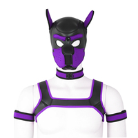 Puppy Play Dog Set BDSM Bondage Full Head Hood Mask Collar Armband Cosplay Fantasy Chest Harness Sexy Adult Erotic Games Slave