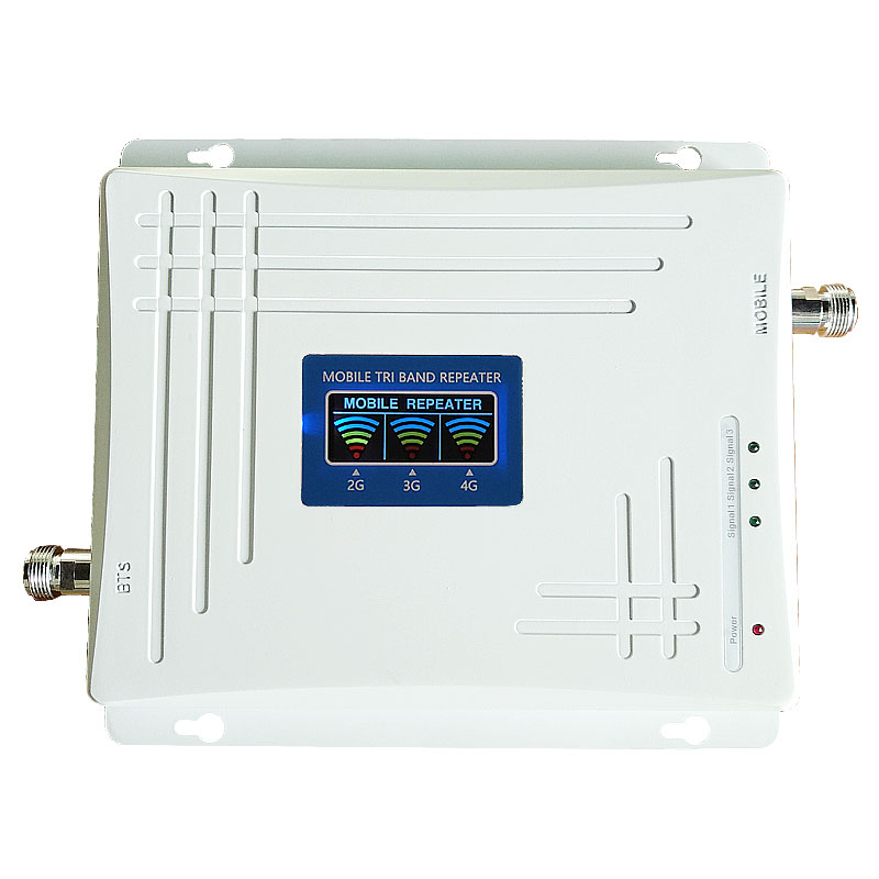 2019 POPULAR Tri Band Signal Booster Cell Phone 2G 3G 4G Network Repeater Communication Signal Amplifier With LCD Display