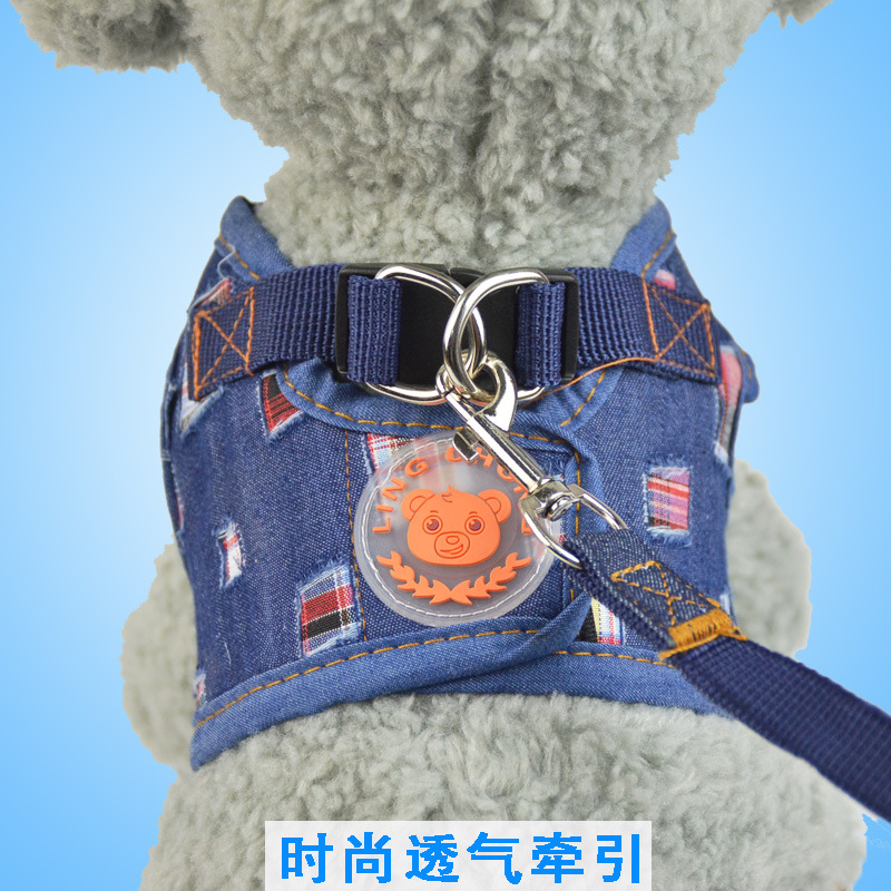Upgrade-Pet Vest Cowboy Chest And Back Dog Cowboy Hand Holding Rope Cat For Traction Set Dogs And Cats Universal